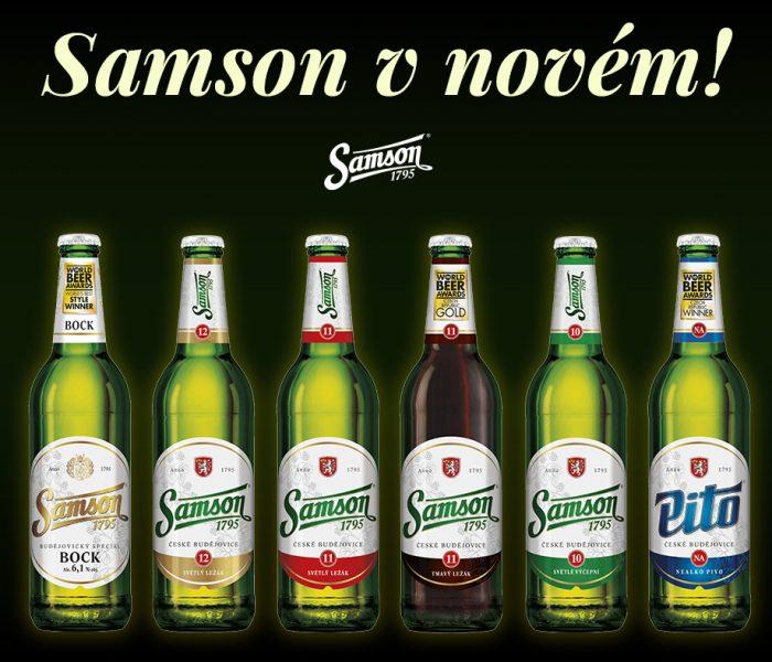 Samson oblékne nový kabát, který bude jeho kvalitnímu pivu slušet