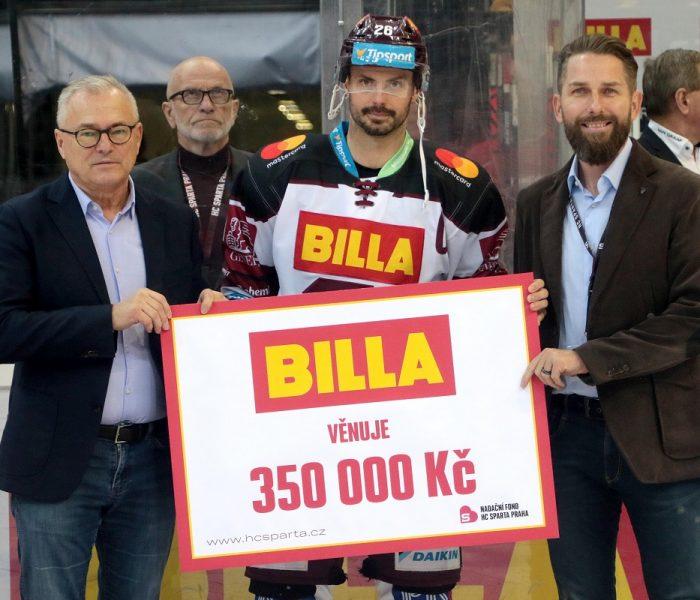 BILLA přispěla 350 000 Kč do Nadačního fondu HC Sparta Praha