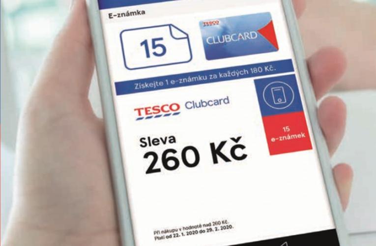 Finanční odměny s aplikací Tesco Clubcard