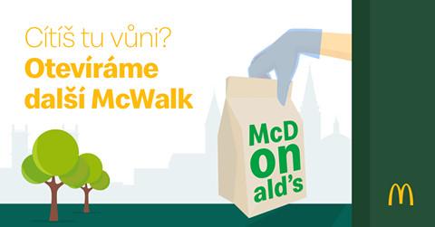 McDonald's spouští službu McWalk
