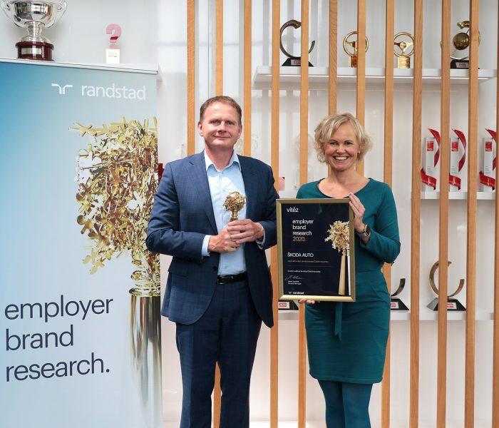 Ocenění Randstad Award pro nejatraktivnějšího zaměstnavatele letos opět putuje do ŠKODA AUTO