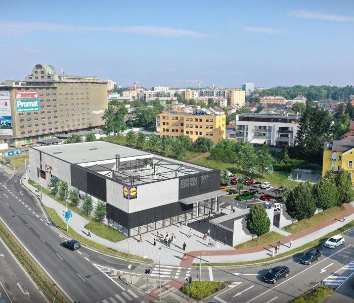VOlomouci ve Velkomoravské ulici postaví Lidl novou prodejnu