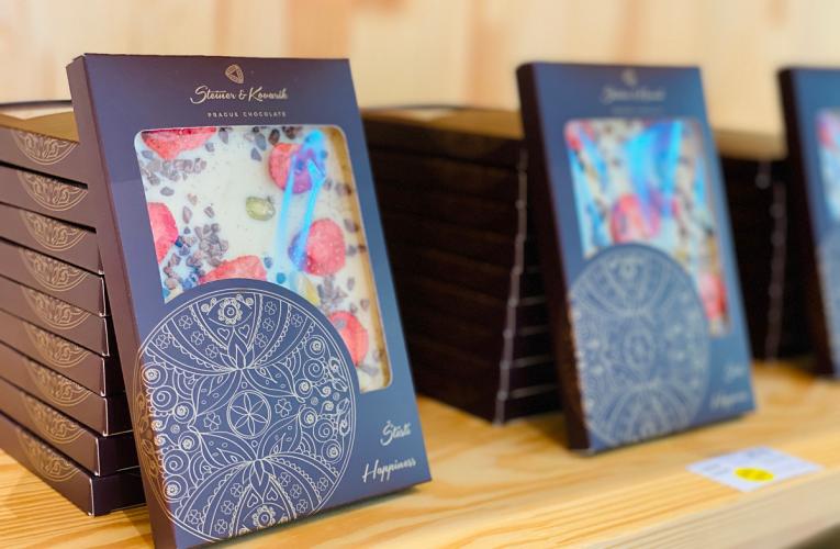 Pražská čokoláda otevřela nový butik luxusního mlsání vPOP Airport