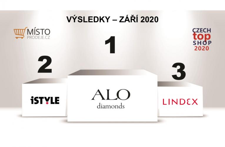 """ALO diamonds zvítězilo vhodnocení prodejen """"CZECH TOP SHOP"""" za měsíc září"""