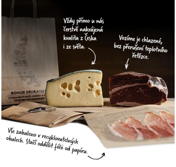 Supermarket Rohlík rozšiřuje služby o nabídku krájených sýrů a uzenin