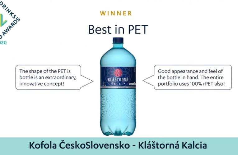 Láhev Kláštorná Kalcia získala zlato na Global Water Drinks Awards