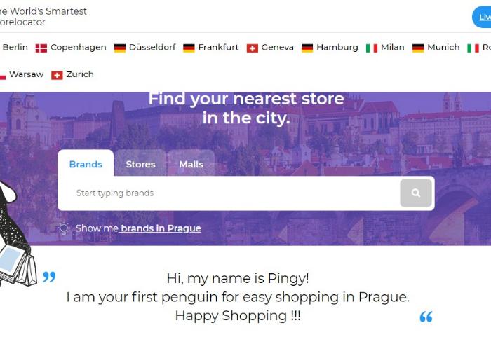 Online databáze prodejen SHOPINGY.COM monitoruje 500 obchodních center