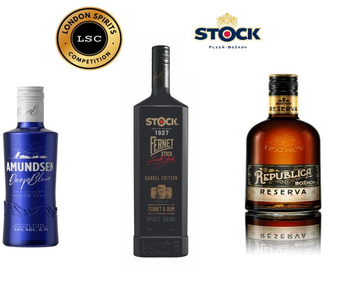 Tři novinky společnosti Stock Plzeň – Božkov si odnesly  ocenění zprestižní mezinárodní soutěže London Spirits Competition