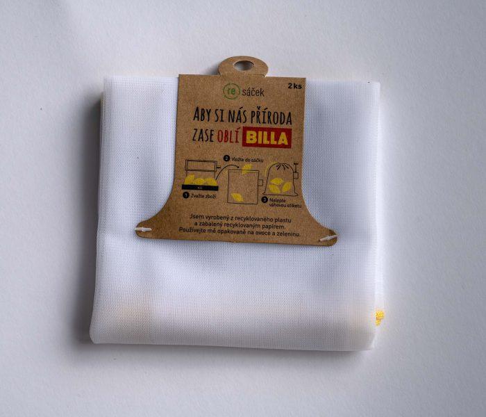 BILLA jako první nabídne opakovatelně využitelné sáčky na ovoce a zeleninu z recyklovaného plastu