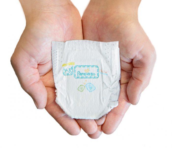 Značka Pampers věnovala 264180 plenek Preemies pro předčasně narozená miminka