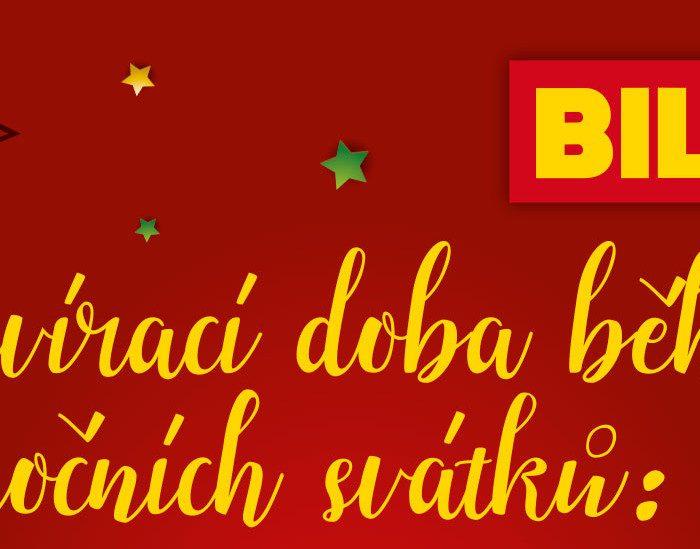 Otevírací doba supermarketů BILLA o vánočních svátcích 2020
