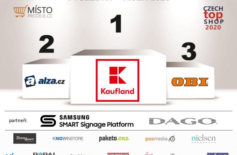 """Kaufland zvítězil vhodnocení prodejen """"CZECH TOP SHOP"""" za měsíc říjen"""