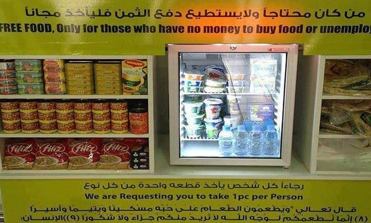Ledničky v místě prodeje s výrobky zdarma