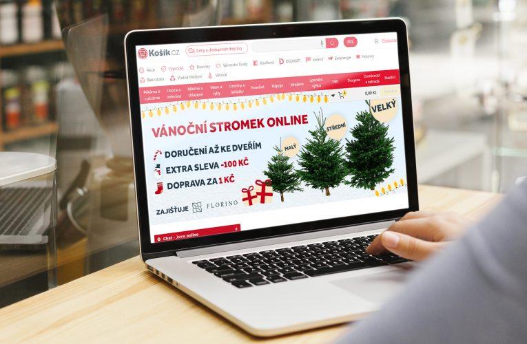 Košík.cz umožní nakoupit nepíchavý vánoční stromek spolu se zásobami
