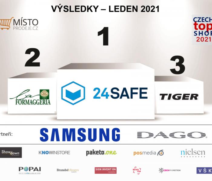 """V našem lednovém hodnocení prodejen """"CZECH TOP SHOP 2021"""" zvítězila společnost 24SAFE"""