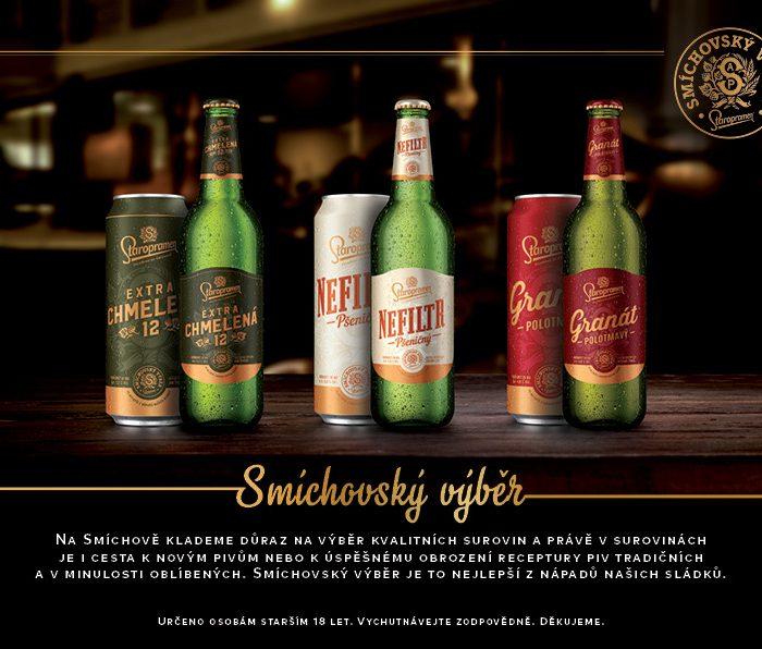 Piva Smíchovského výběru nově na pultech obchodů