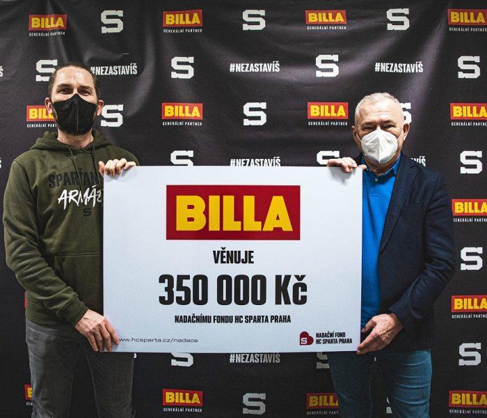 BILLA opět podpořila Nadační fond HC Sparta