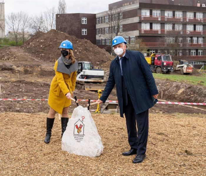 Stavba prvního českého Domu Ronalda McDonalda byla zahájena