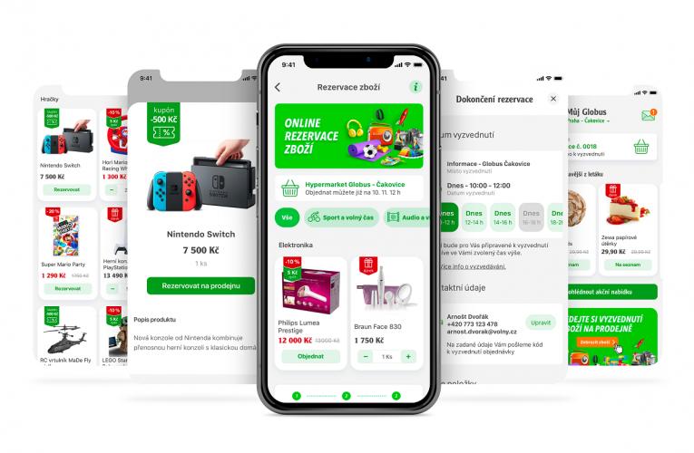 Mobilní aplikace Můj Globus nově umožní rezervaci atraktivního sezónního zboží i čerstvých potravin z vlastních pekařství a řeznictví