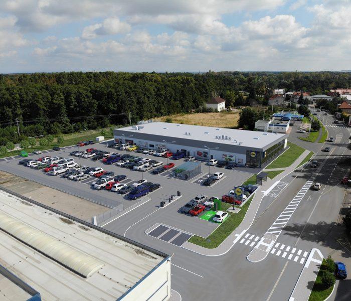 V Poděbradech probíhá stavba nové prodejny Lidl