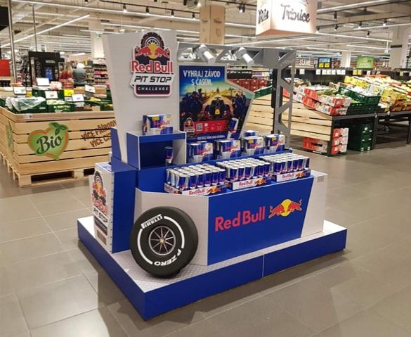 Red Bull projíždí sFormulí 1 české a slovenské prodejny