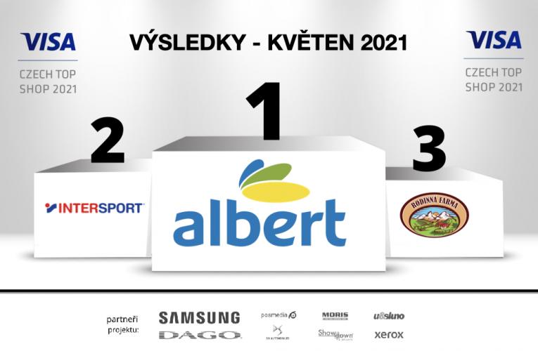 Albert Jesenice květnovým vítězem VISA Czech Top Shop 2021