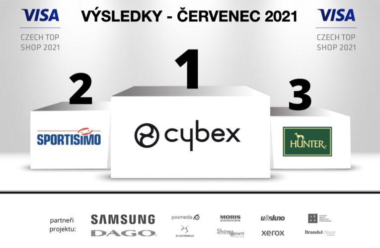 """Červencový """"VISA Czech Top Shop 2021"""" je Cybex"""