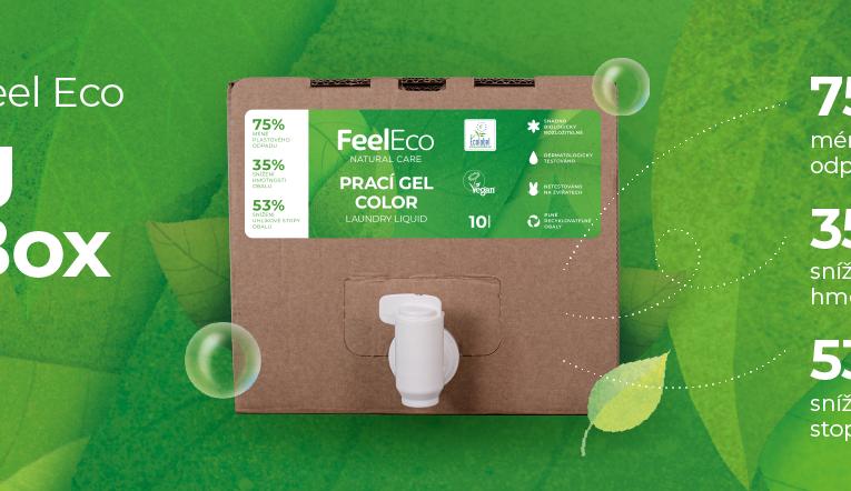 Feel Eco redukuje množství plastů a přichází s novým balením produktů v Bag in Boxech