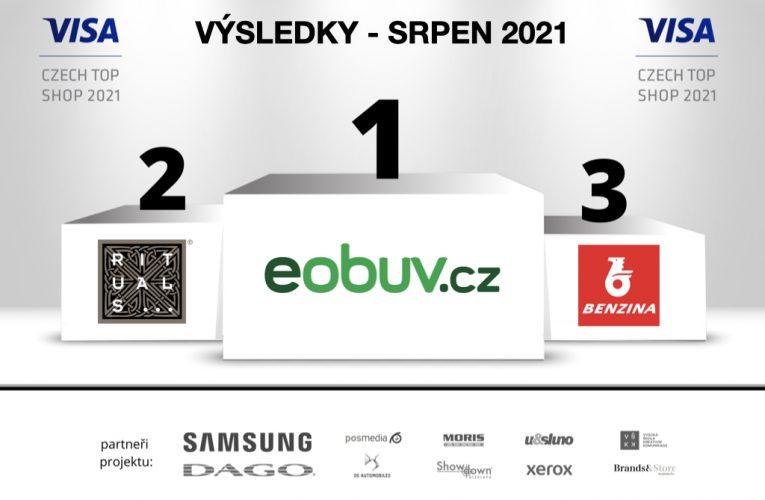 """Srpnový """"VISA Czech Top Shop 2021"""" je eObuv"""