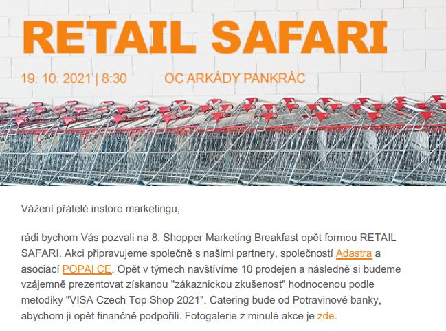 Další Retail Safari už 19.10. !