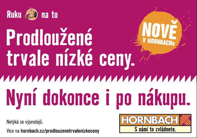 Hornbach se s novou službou opět vzdaluje konkurenci a prodlužuje záruku trvale nízkých cen
